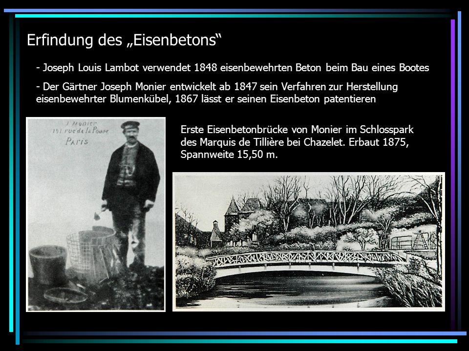 """Erfindung des """"Eisenbetons"""