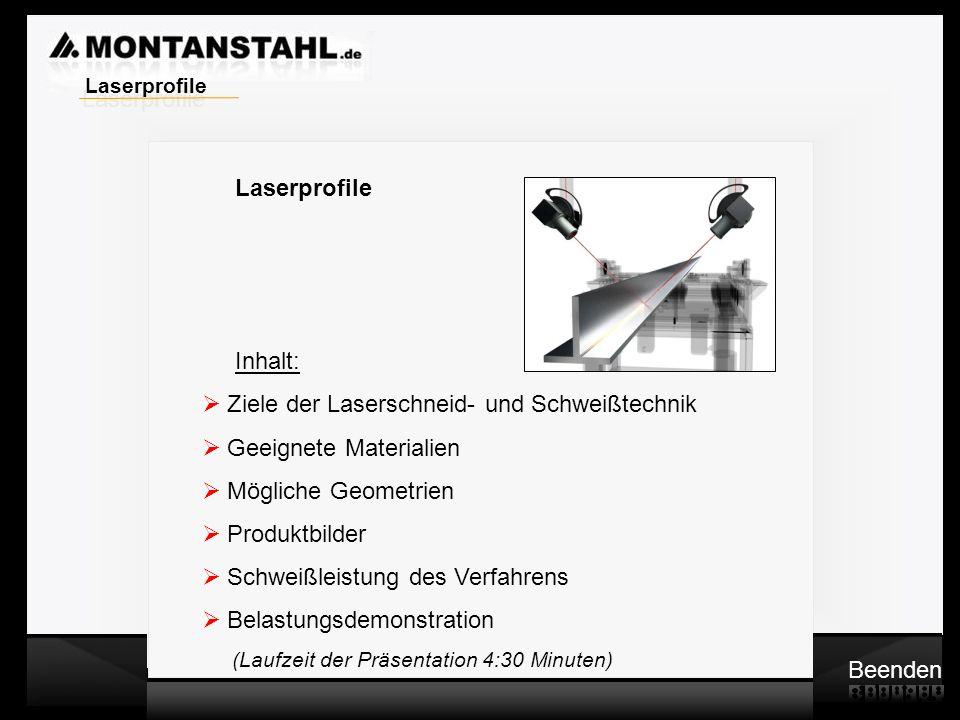 Ziele der Laserschneid- und Schweißtechnik Geeignete Materialien