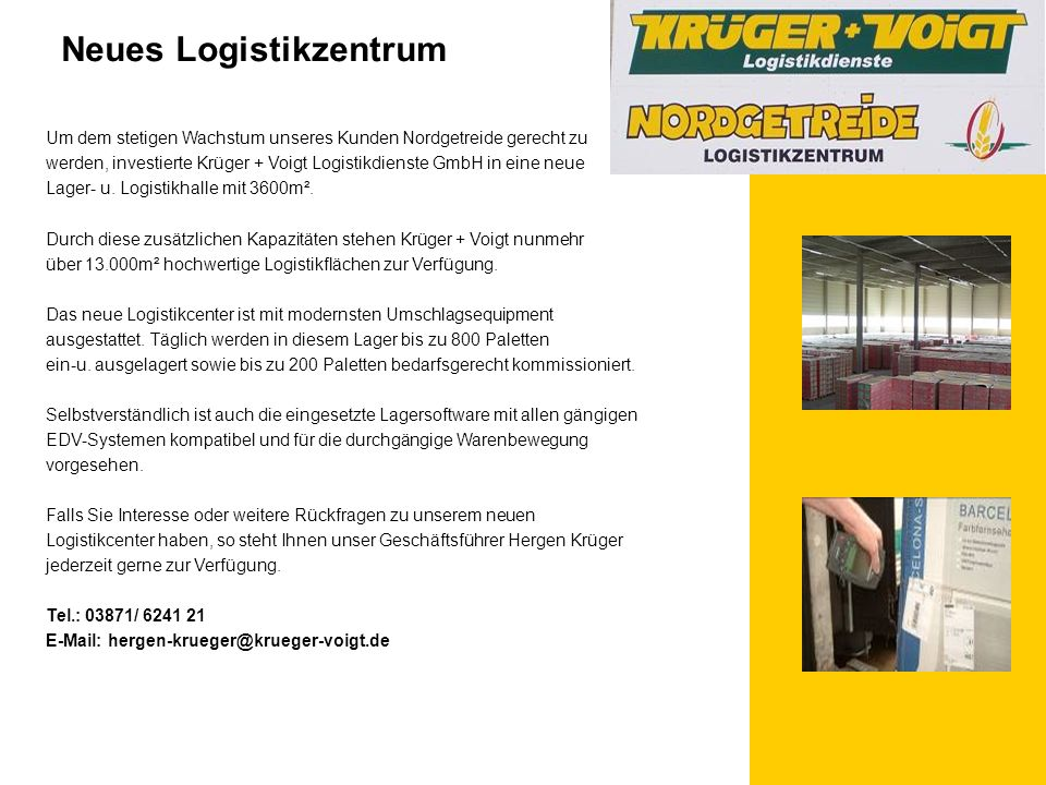 Neues Logistikzentrum