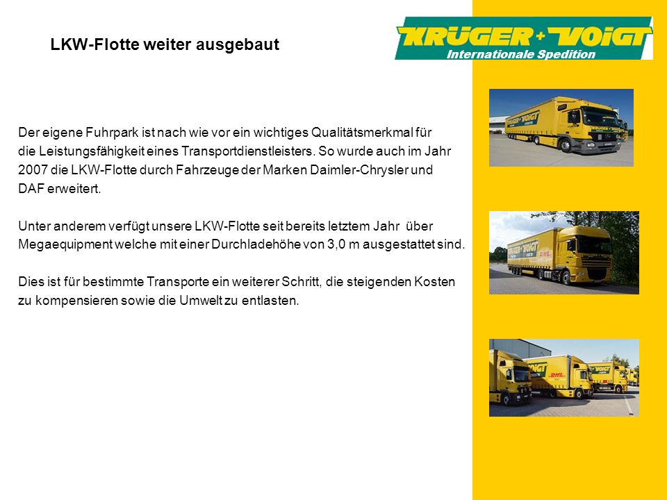 LKW-Flotte weiter ausgebaut