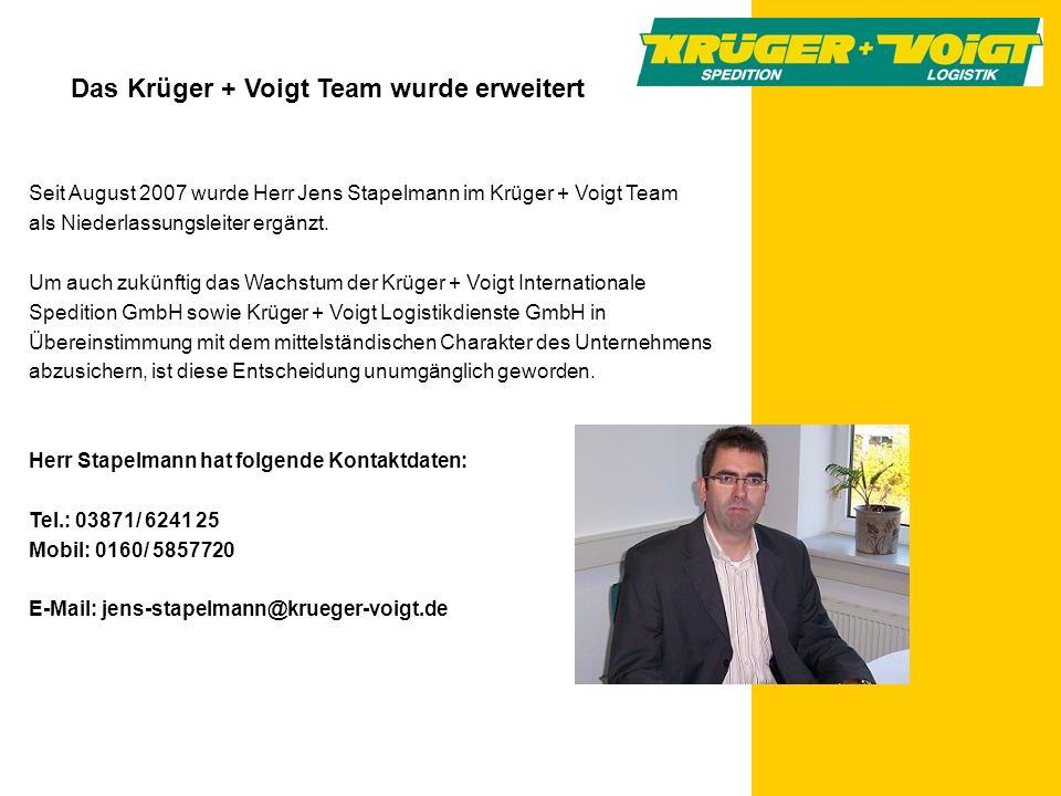 Das Krüger + Voigt Team wurde erweitert