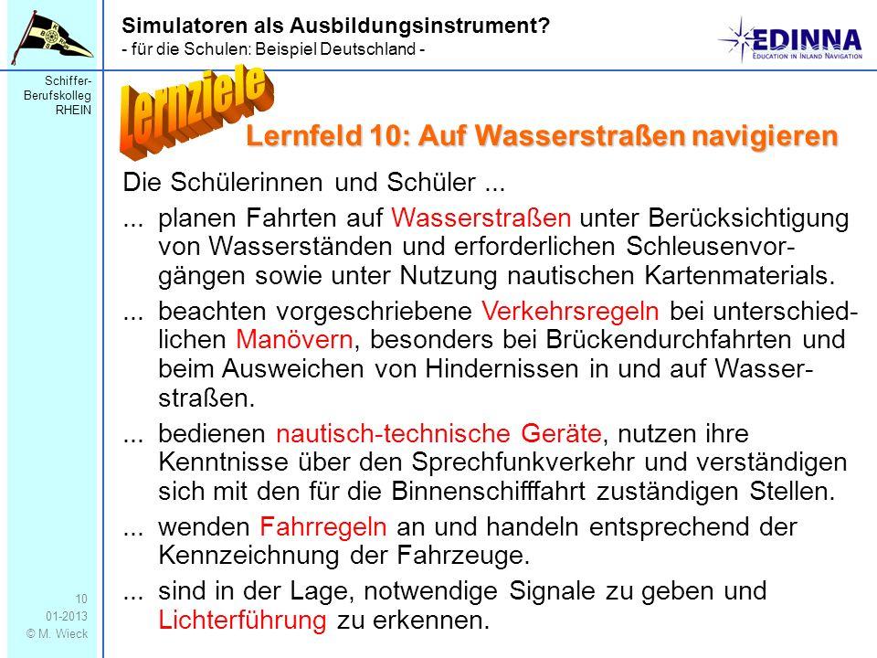 Lernziele Lernfeld 10: Auf Wasserstraßen navigieren
