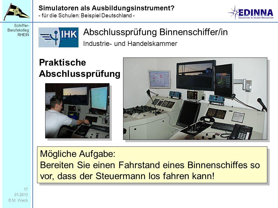 Abschlussprüfung Binnenschiffer/in Industrie- und Handelskammer