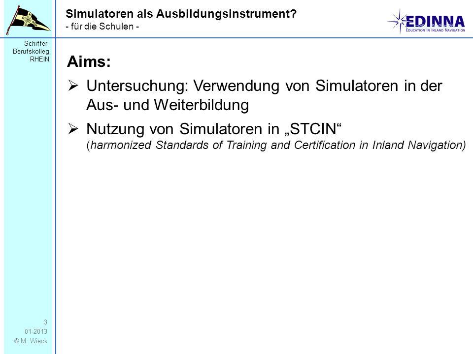 Untersuchung: Verwendung von Simulatoren in der Aus- und Weiterbildung
