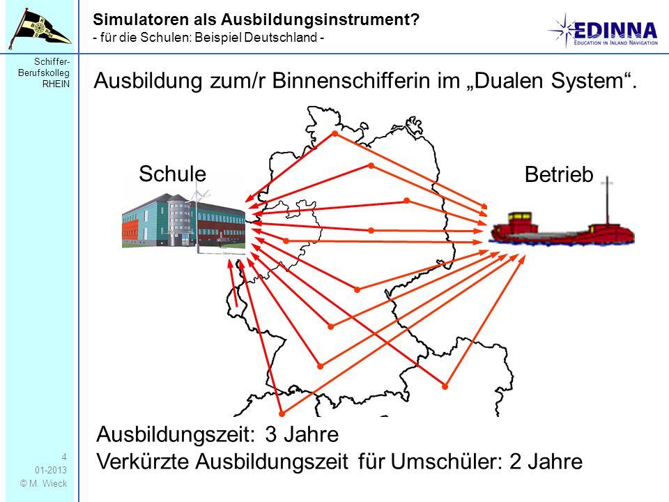 """Ausbildung zum/r Binnenschifferin im """"Dualen System ."""