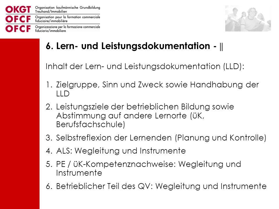 6. Lern- und Leistungsdokumentation - ||