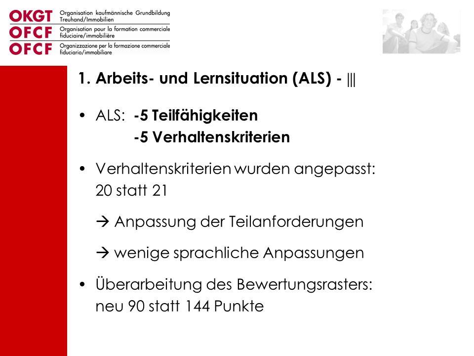 1. Arbeits- und Lernsituation (ALS) - |||