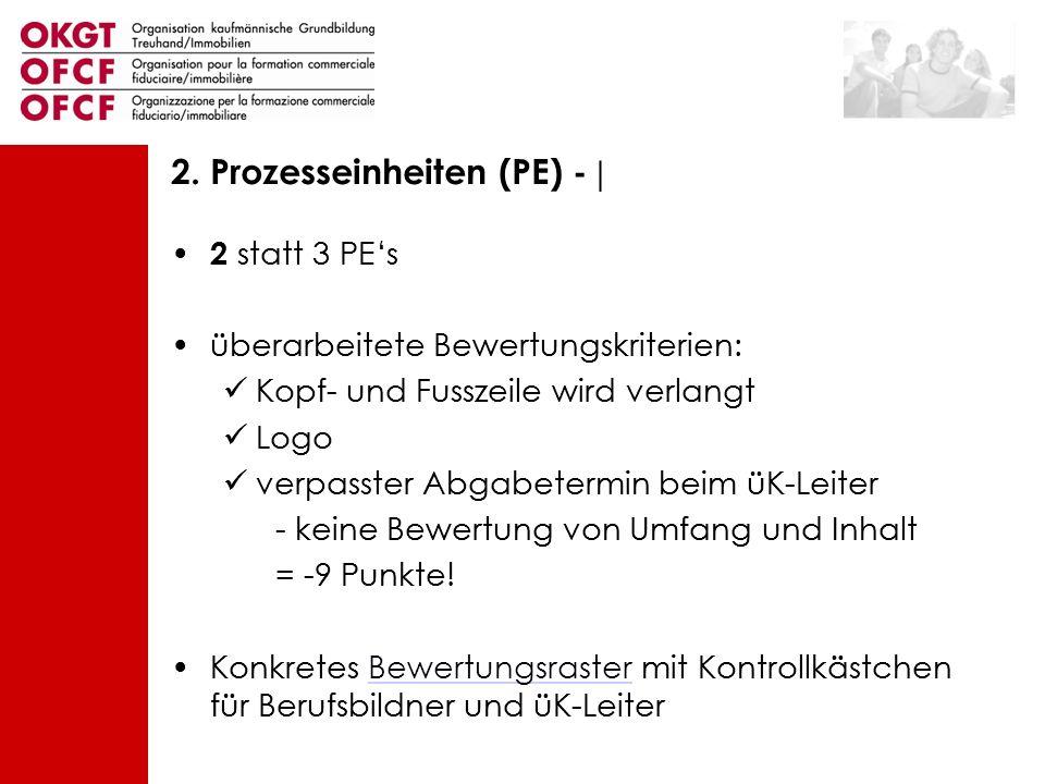 2. Prozesseinheiten (PE) - |