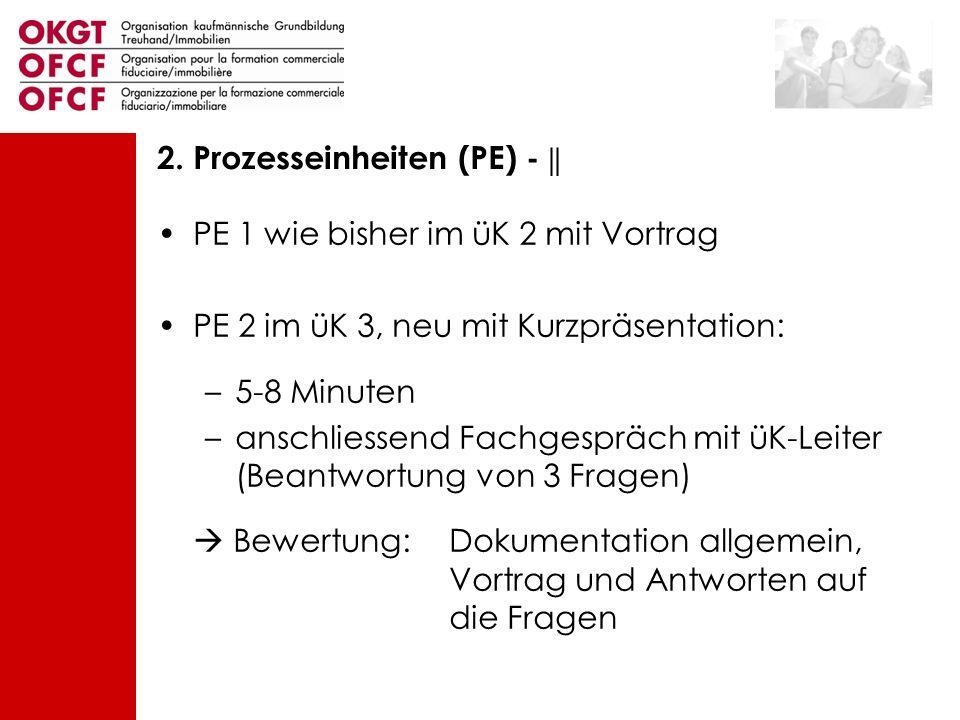 2. Prozesseinheiten (PE) - ||