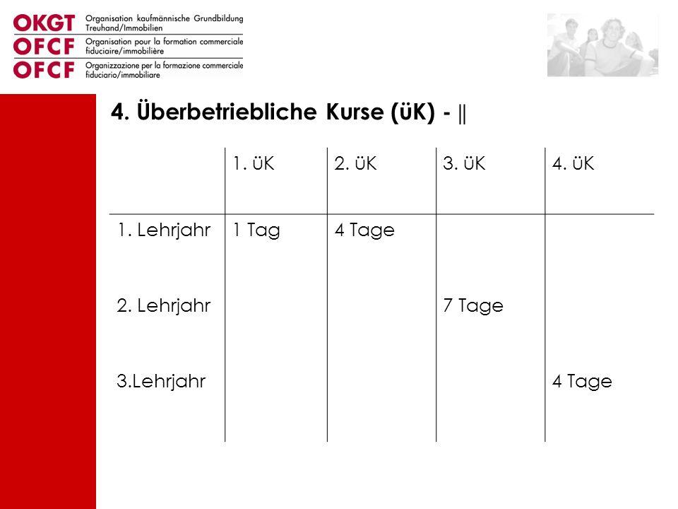 4. Überbetriebliche Kurse (üK) - ||