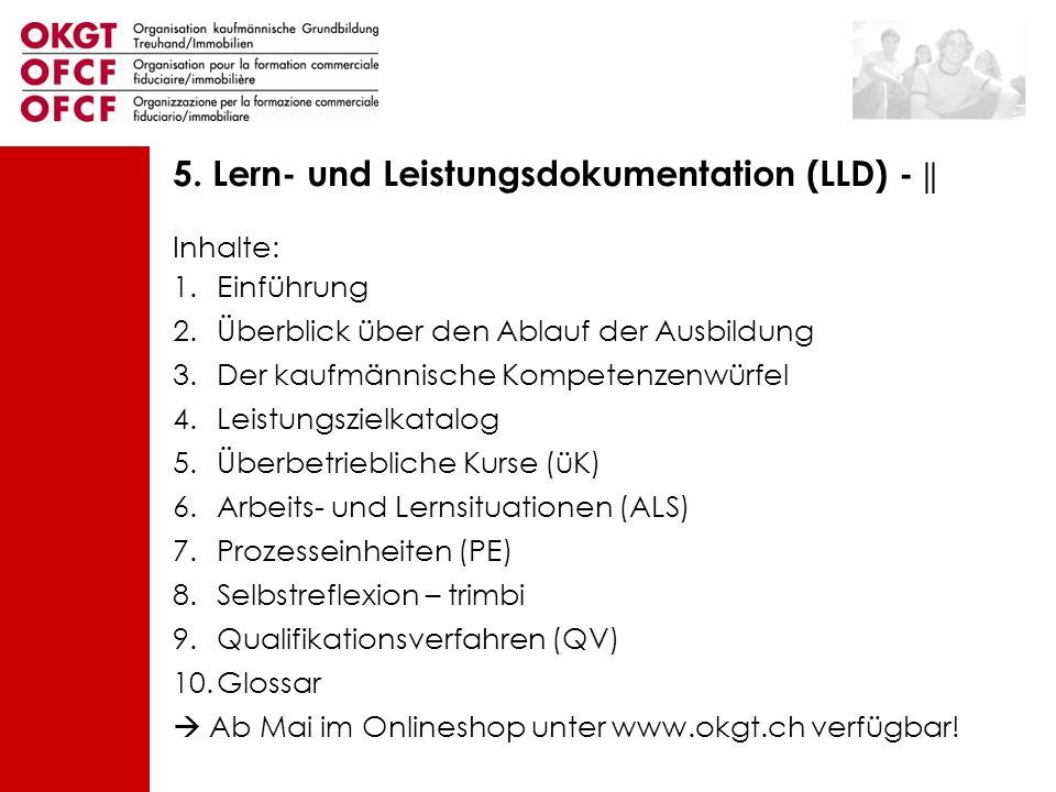 5. Lern- und Leistungsdokumentation (LLD) - ||