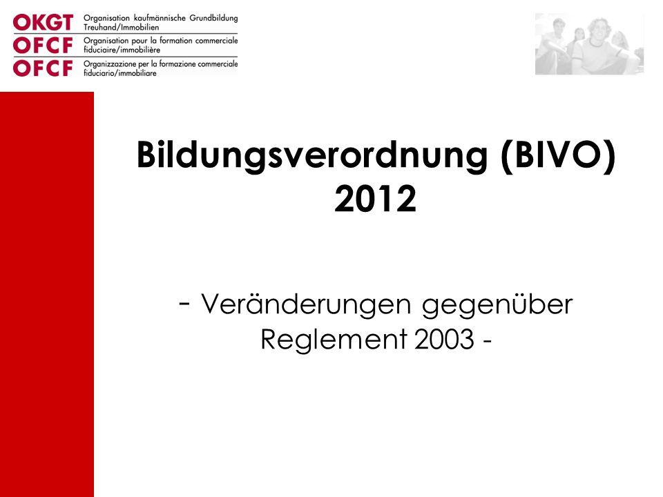 Bildungsverordnung (BIVO) 2012