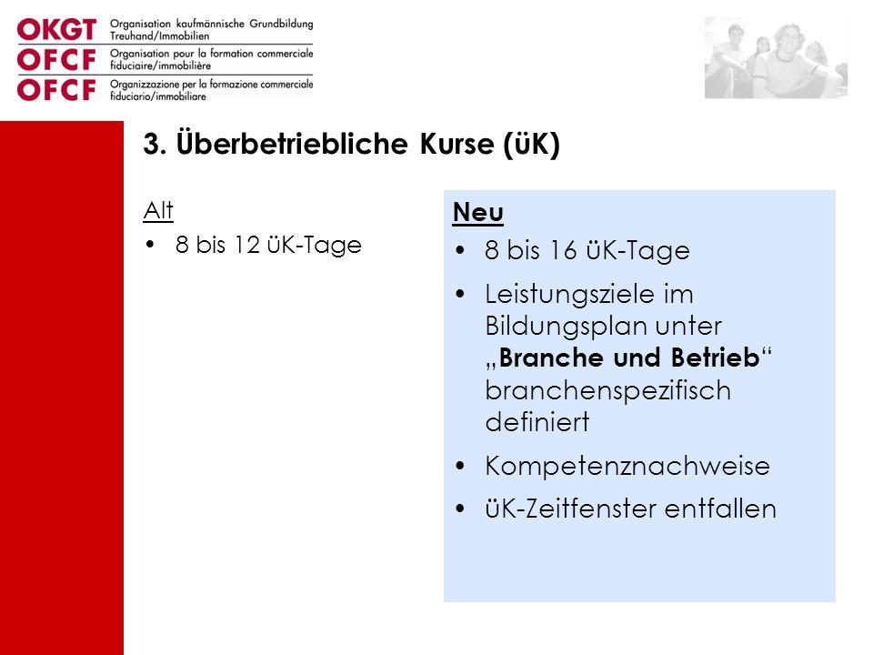 3. Überbetriebliche Kurse (üK)