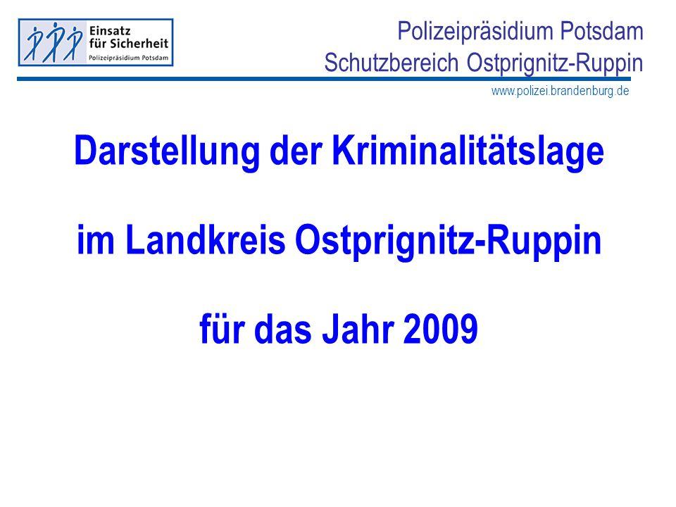Darstellung der Kriminalitätslage im Landkreis Ostprignitz-Ruppin