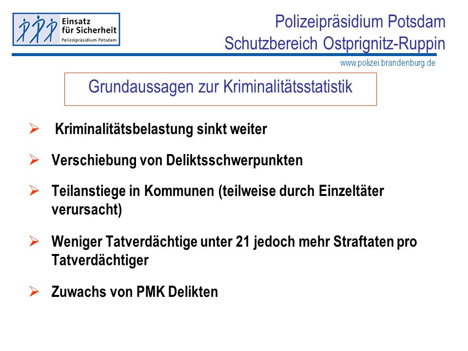 Grundaussagen zur Kriminalitätsstatistik