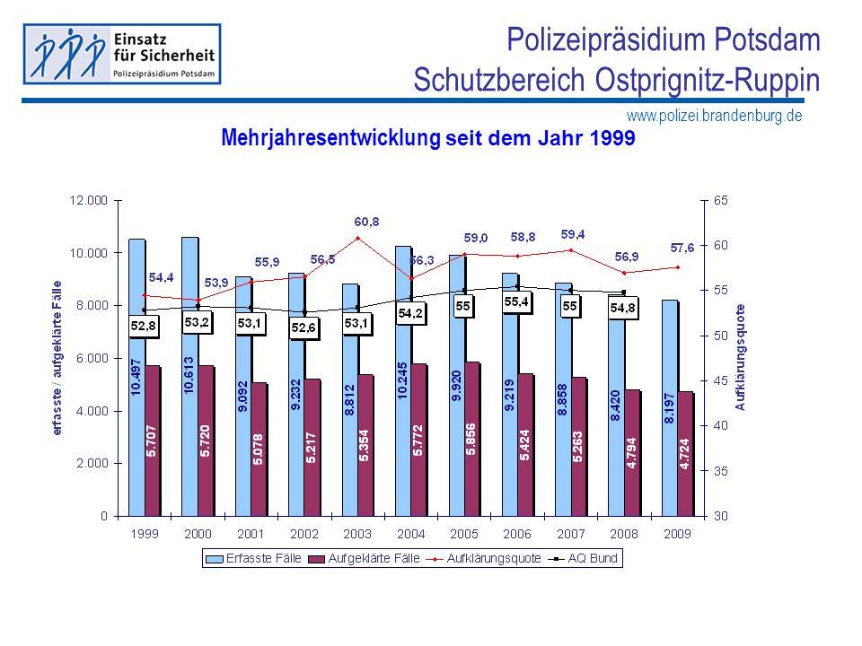 Mehrjahresentwicklung seit dem Jahr 1999