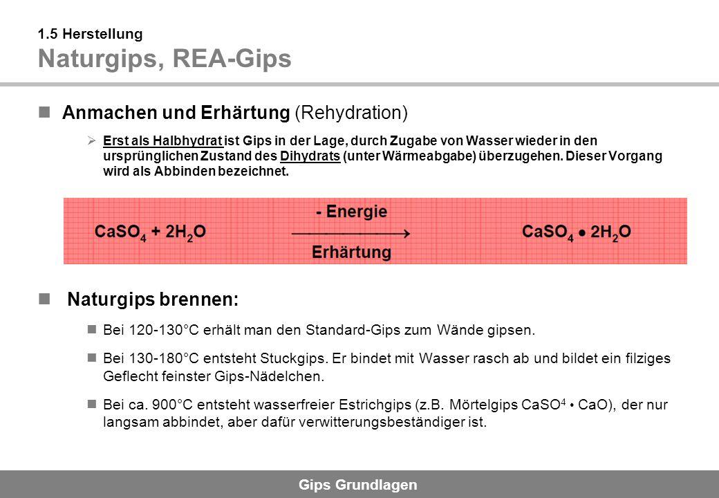 1.5 Herstellung Naturgips, REA-Gips