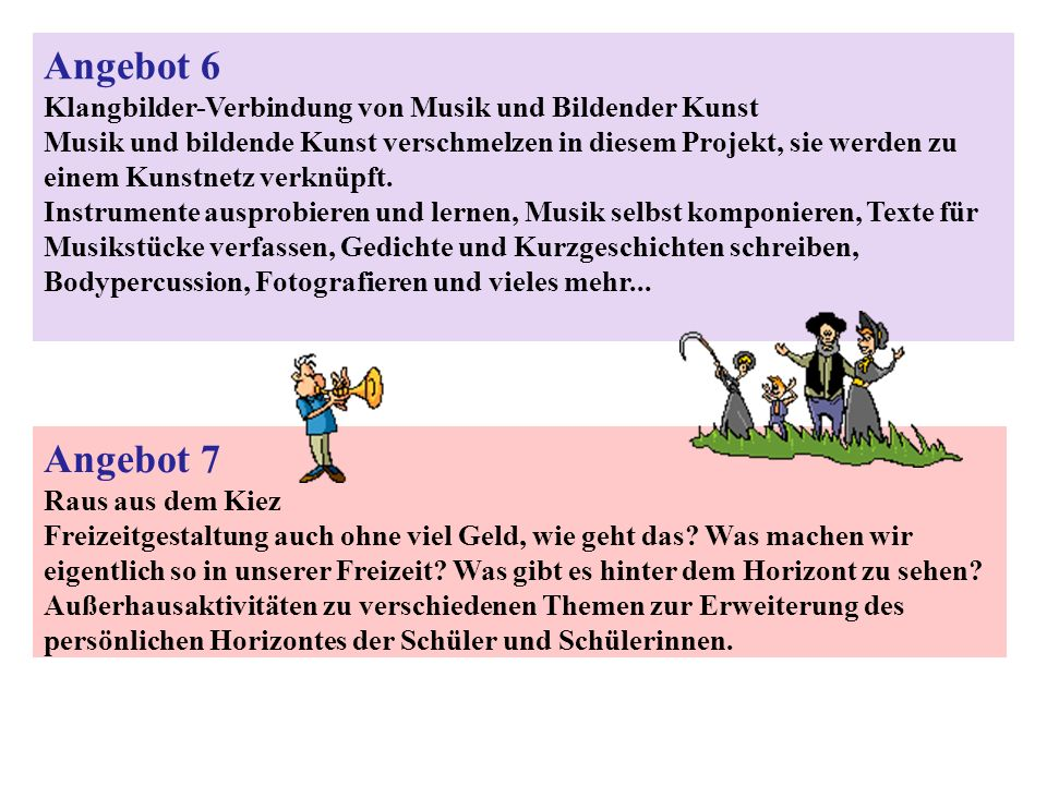 Angebot 6 Klangbilder-Verbindung von Musik und Bildender Kunst.