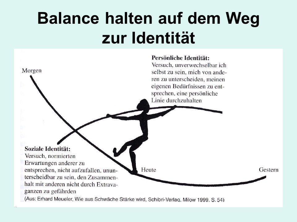 Balance halten auf dem Weg zur Identität