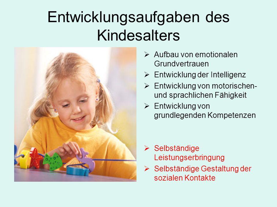Entwicklungsaufgaben des Kindesalters