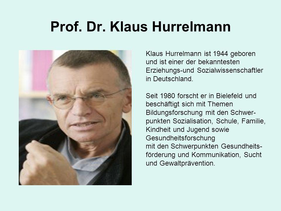 Prof. Dr. Klaus Hurrelmann