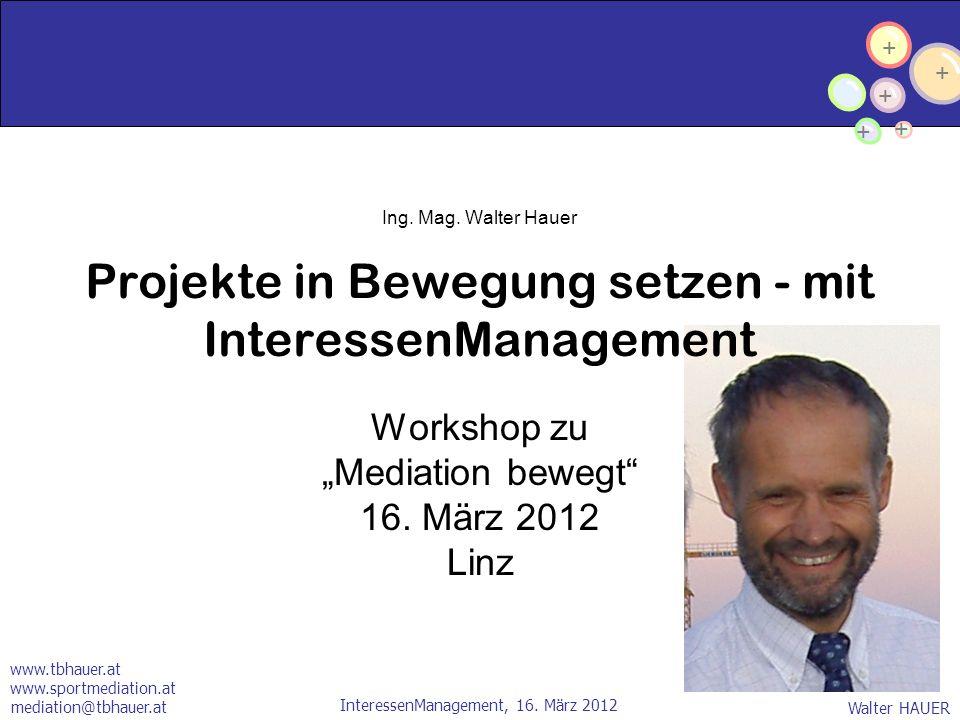 """Workshop zu """"Mediation bewegt 16. März 2012 Linz"""