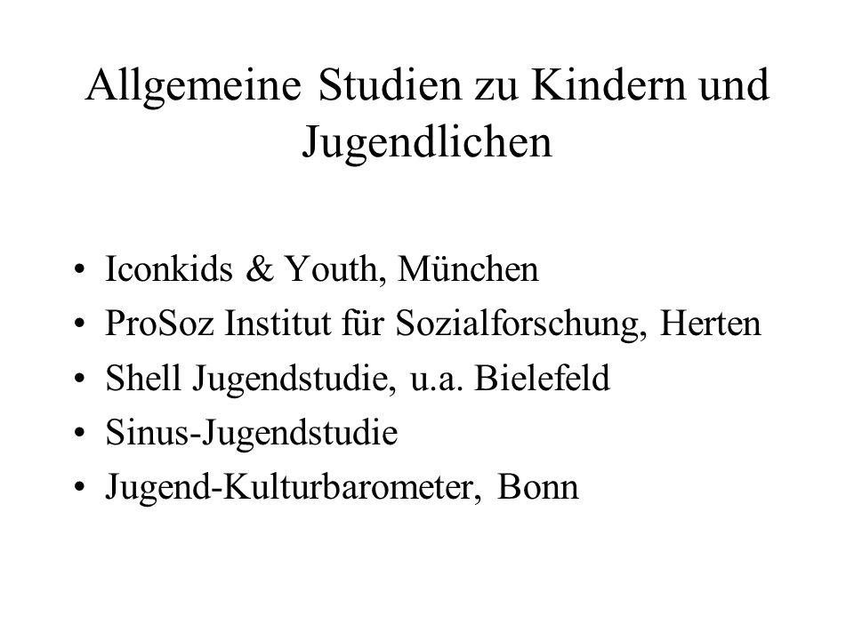 Allgemeine Studien zu Kindern und Jugendlichen