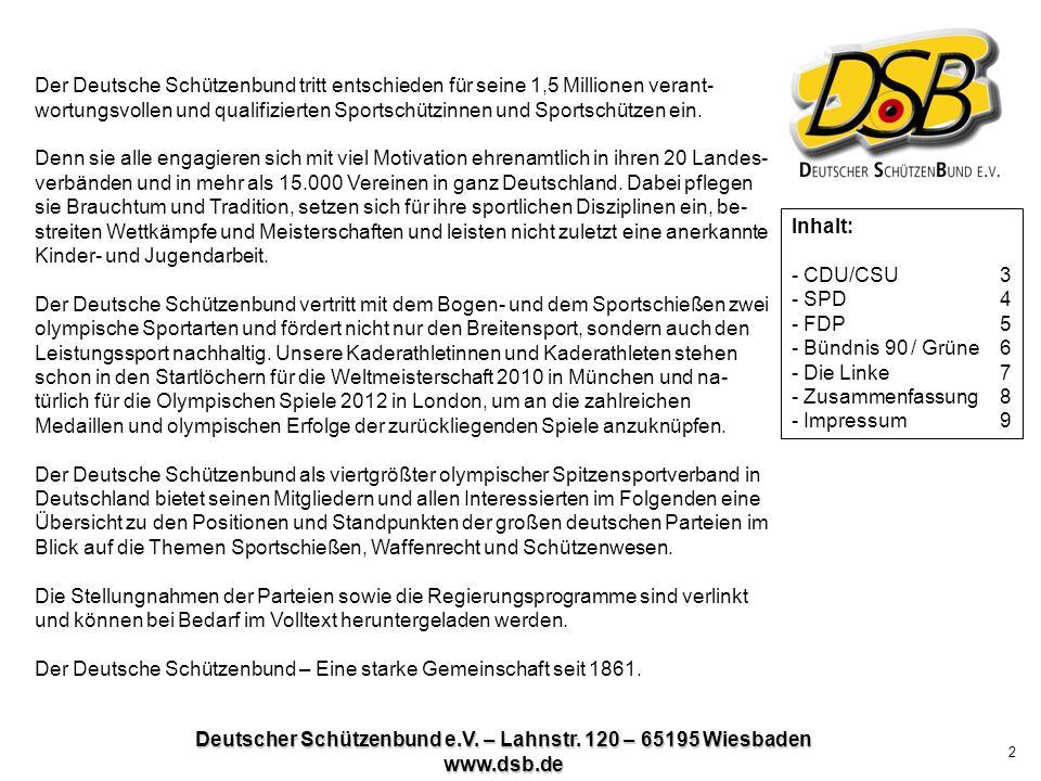 Deutscher Schützenbund e.V. – Lahnstr. 120 – 65195 Wiesbaden