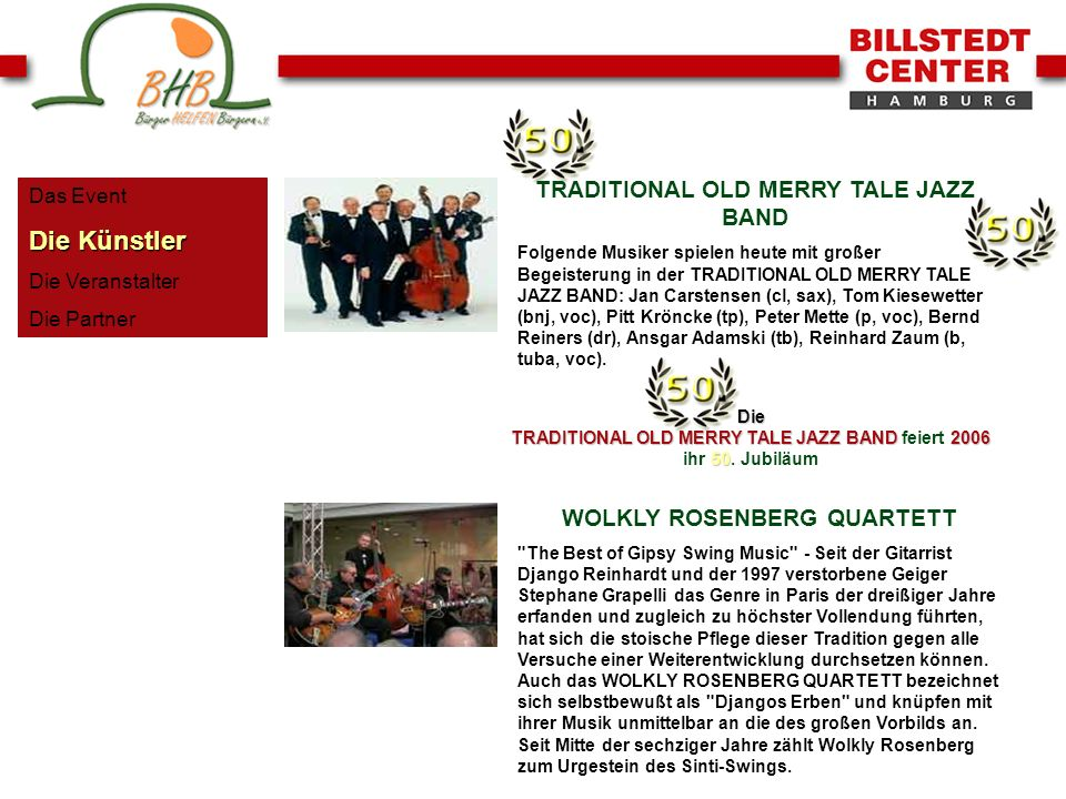 Die Künstler TRADITIONAL OLD MERRY TALE JAZZ BAND
