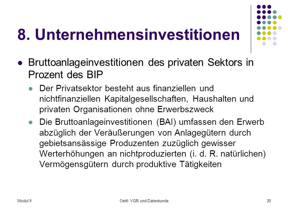 8. Unternehmensinvestitionen