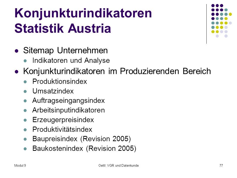 Konjunkturindikatoren Statistik Austria