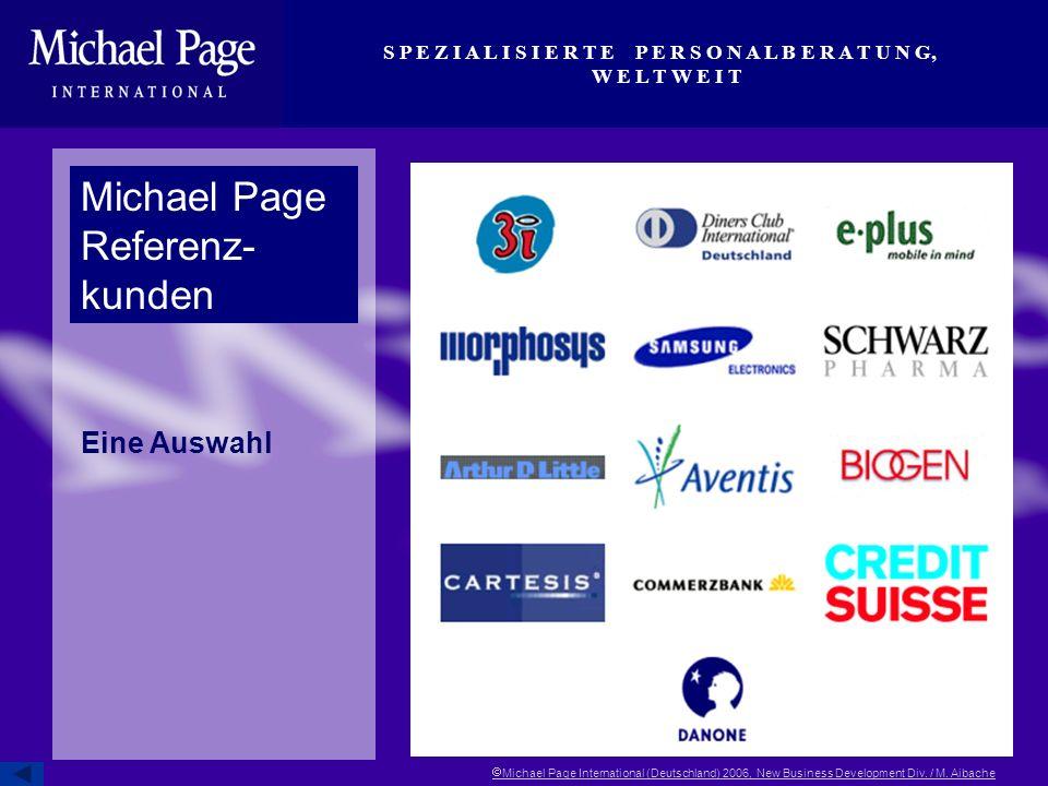 Michael Page Referenz- kunden Eine Auswahl