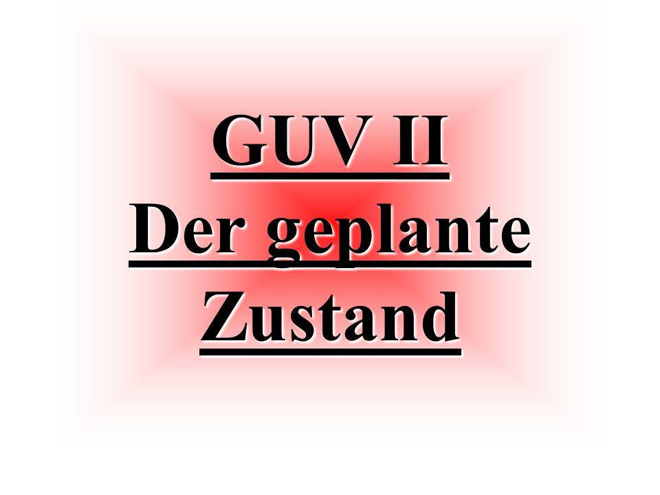 GUV II Der geplante Zustand