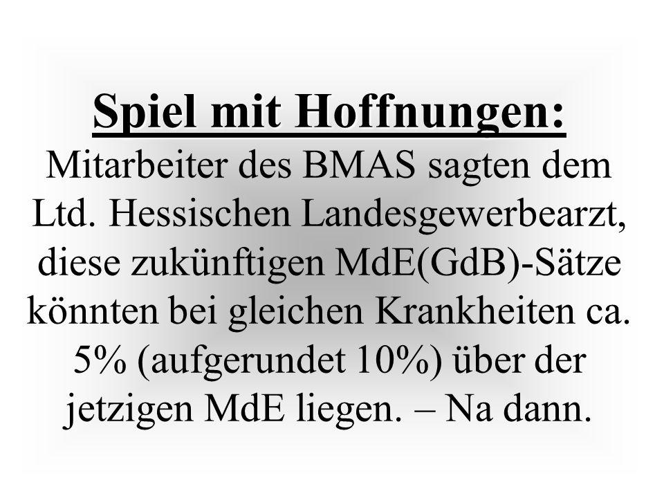 Spiel mit Hoffnungen: Mitarbeiter des BMAS sagten dem Ltd