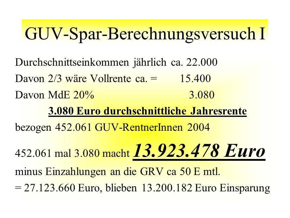 GUV-Spar-Berechnungsversuch I