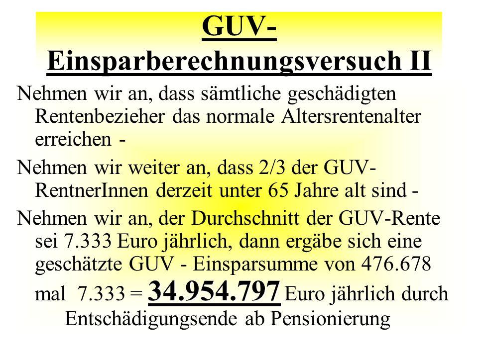 GUV-Einsparberechnungsversuch II