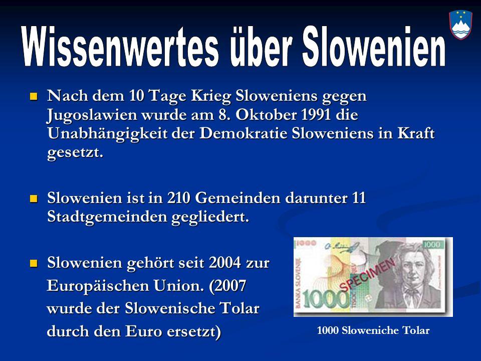 Wissenwertes über Slowenien