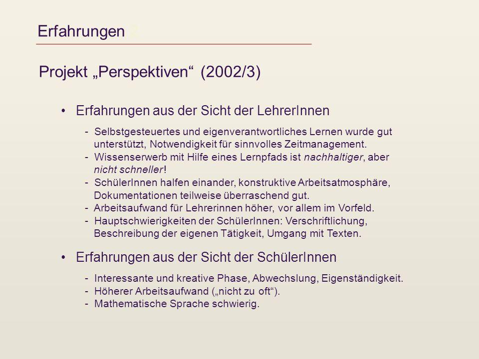 "Projekt ""Perspektiven (2002/3)"