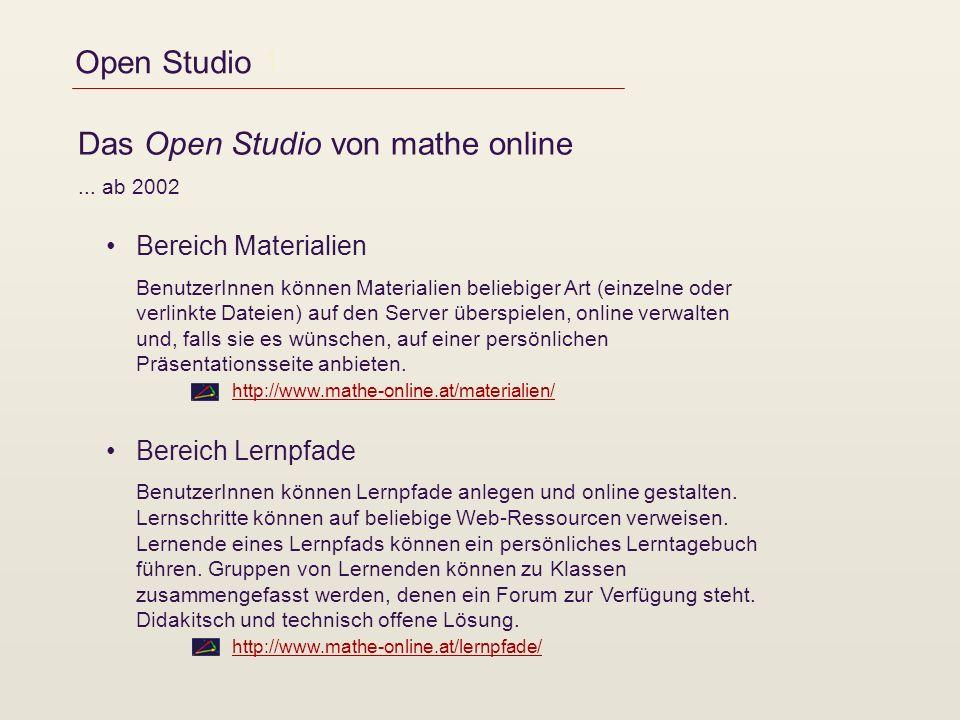 Das Open Studio von mathe online