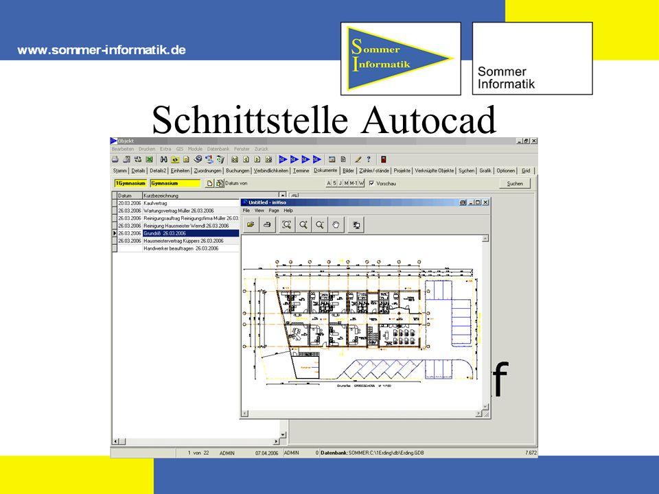 Schnittstelle Autocad