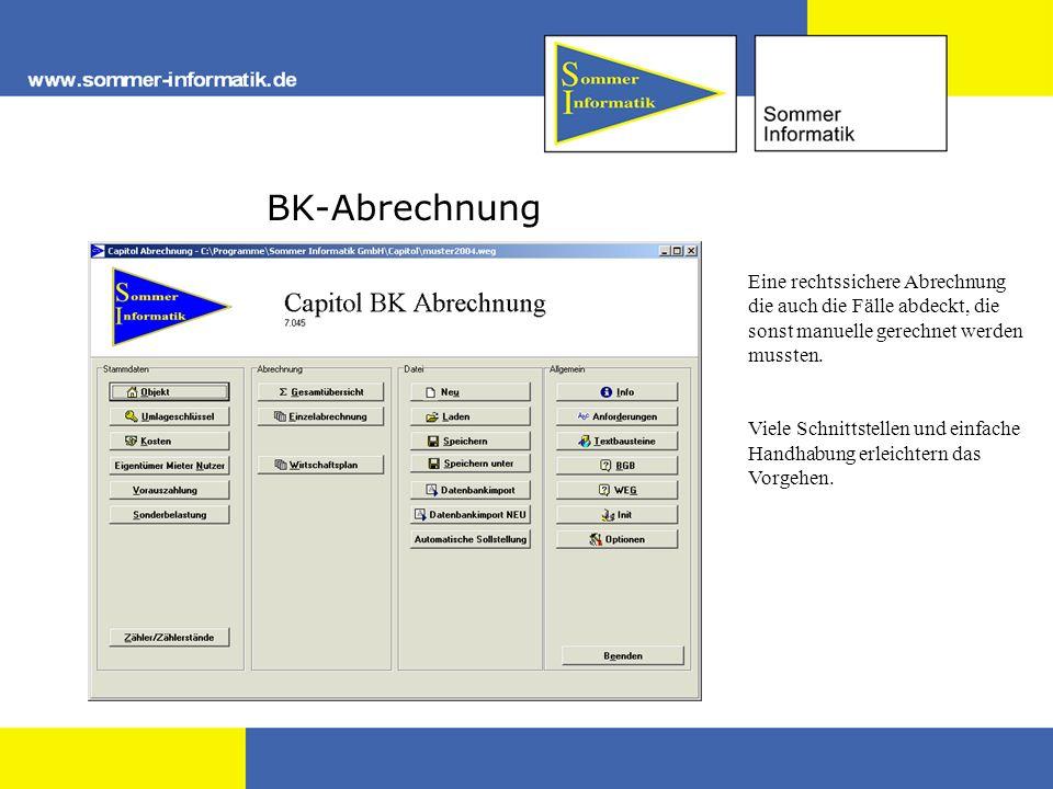 BK-Abrechnung Eine rechtssichere Abrechnung die auch die Fälle abdeckt, die sonst manuelle gerechnet werden mussten.