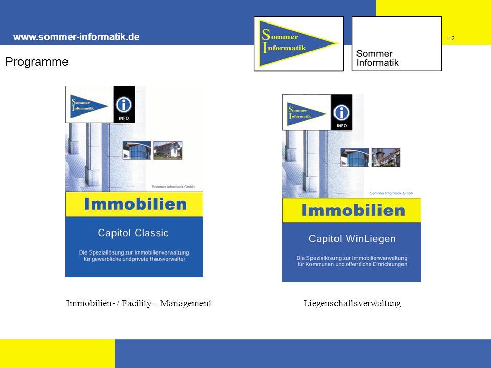 Programme www.sommer-informatik.de Immobilien- / Facility – Management