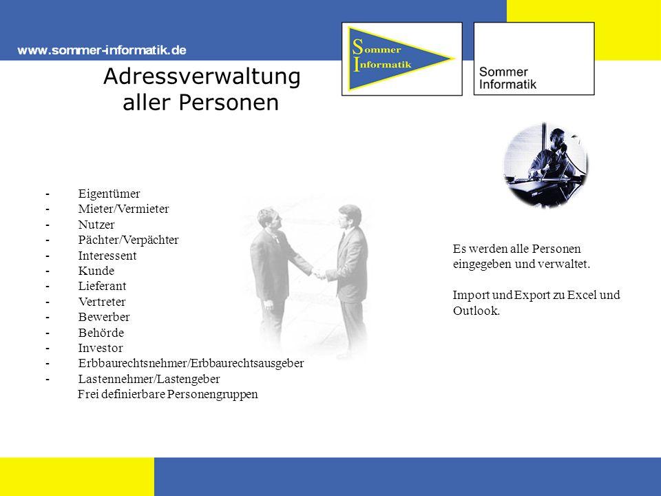 Adressverwaltung aller Personen