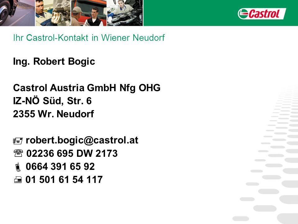 Ihr Castrol-Kontakt in Wiener Neudorf