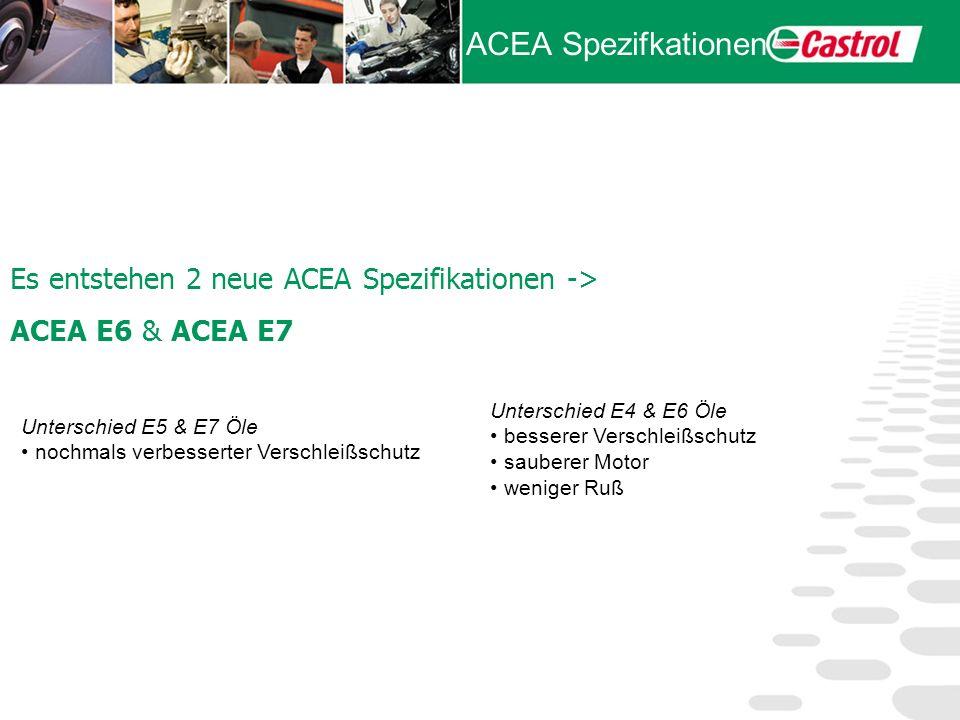 ACEA Spezifkationen Es entstehen 2 neue ACEA Spezifikationen ->