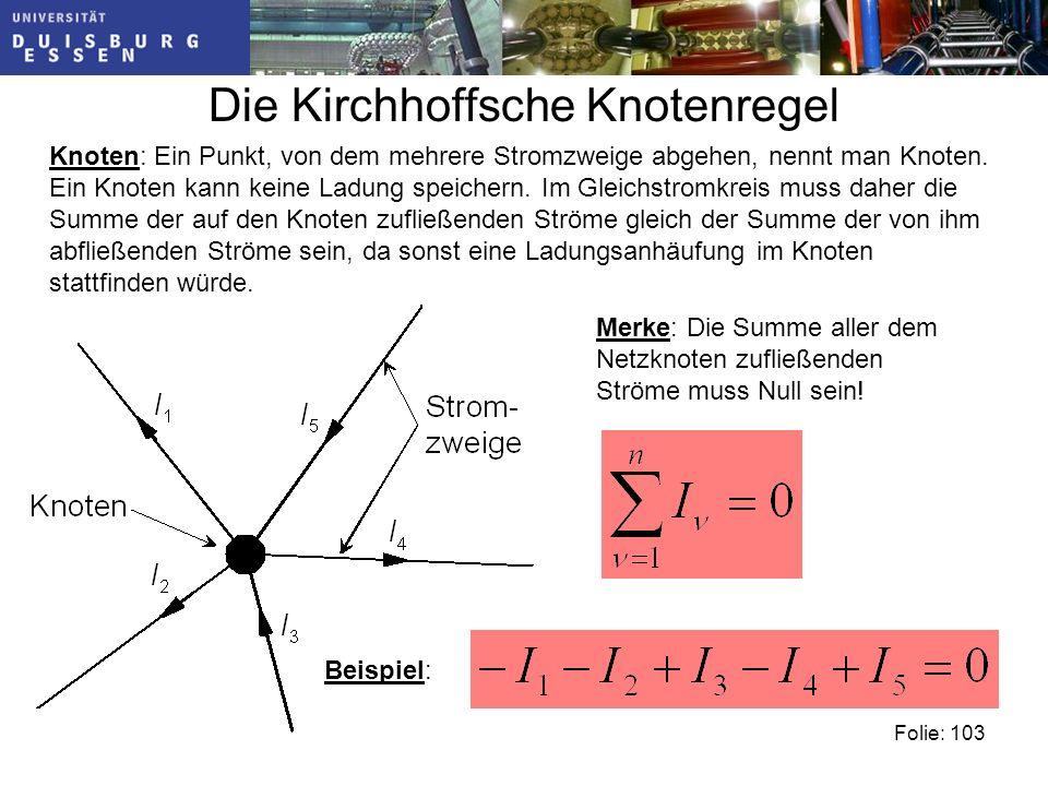 Die Kirchhoffsche Knotenregel