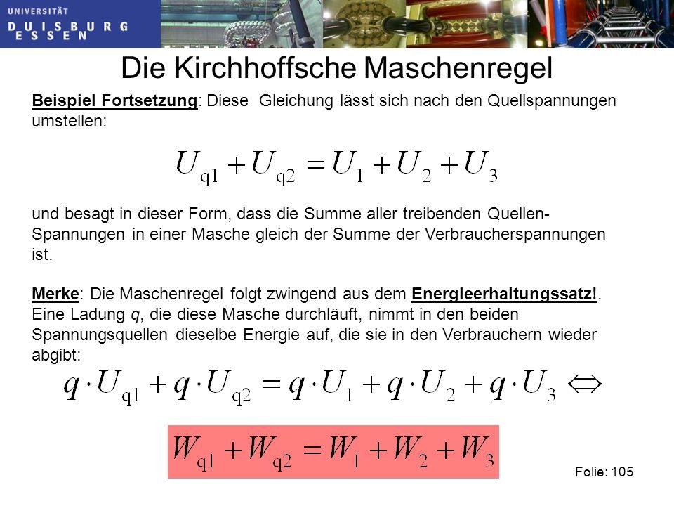 Die Kirchhoffsche Maschenregel