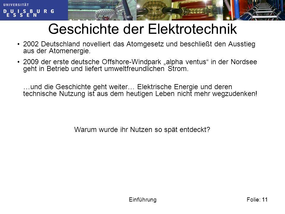 Geschichte der Elektrotechnik