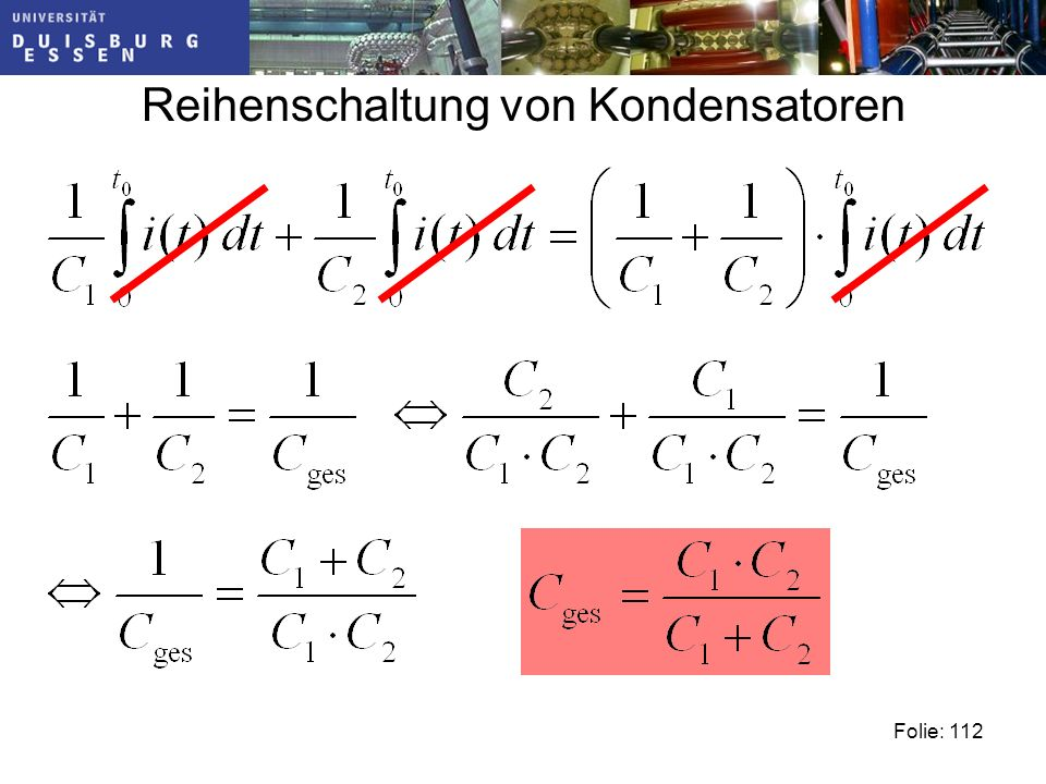 Reihenschaltung von Kondensatoren