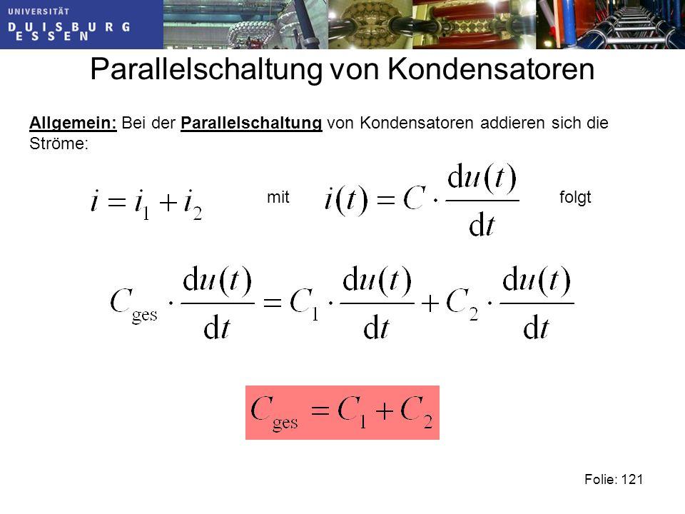 Parallelschaltung von Kondensatoren